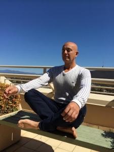 Rob meditating