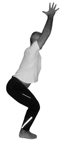Yoga Pose Utkatasana hands apart